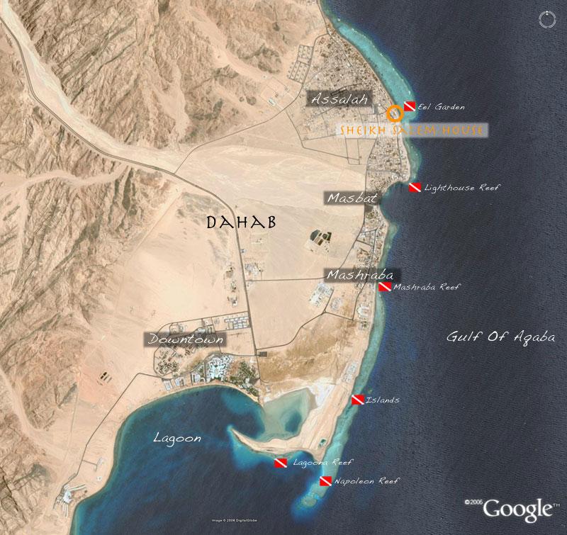 Карта Дахаба